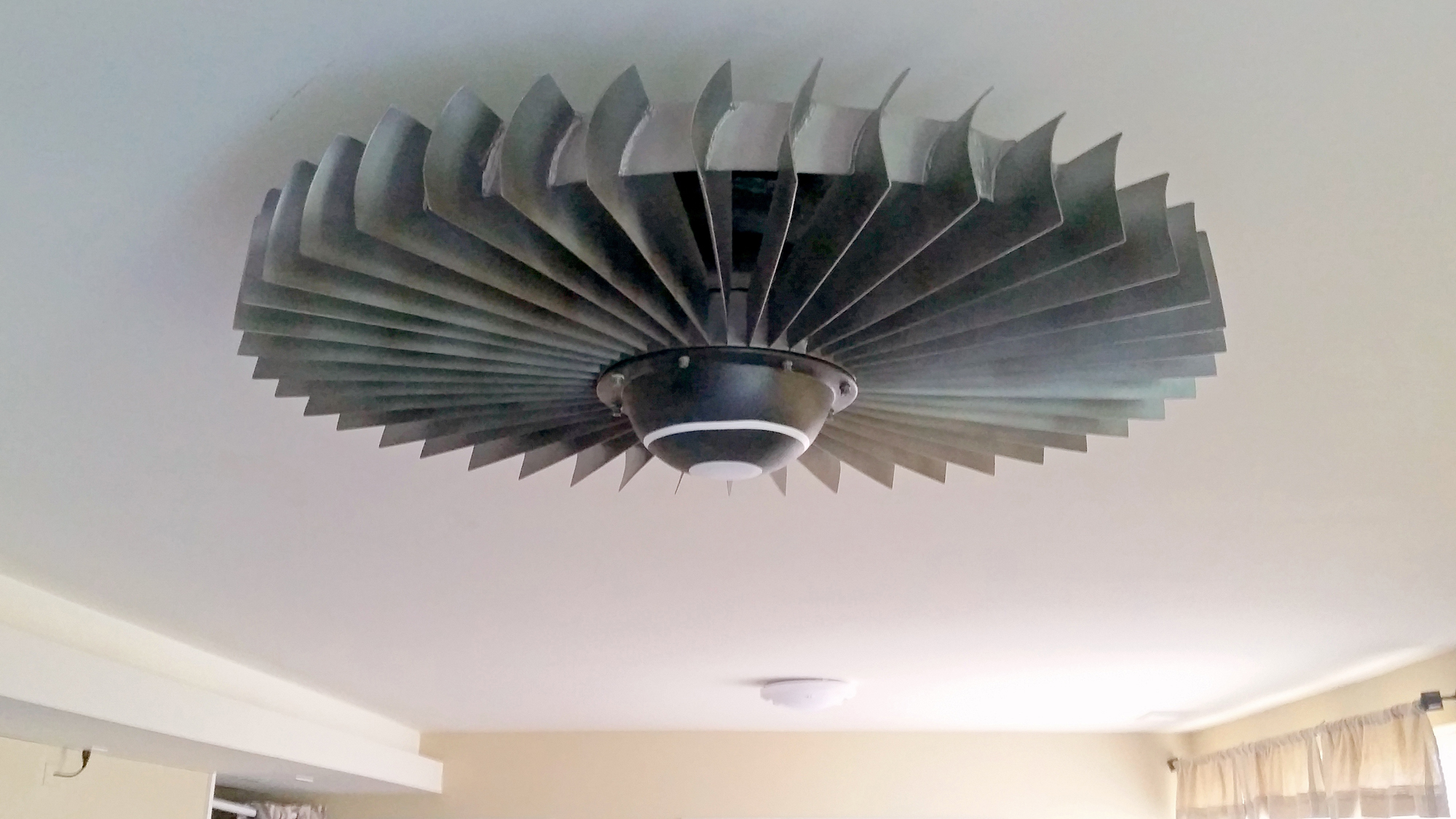 Aeronautical Ceiling Fan : Tech steel materials jet engine ceiling fan is expensive