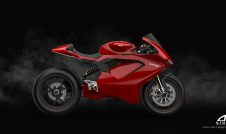 Ducati Electric motorcycle - side view