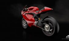 Ducati Electric motorcycle - rear view