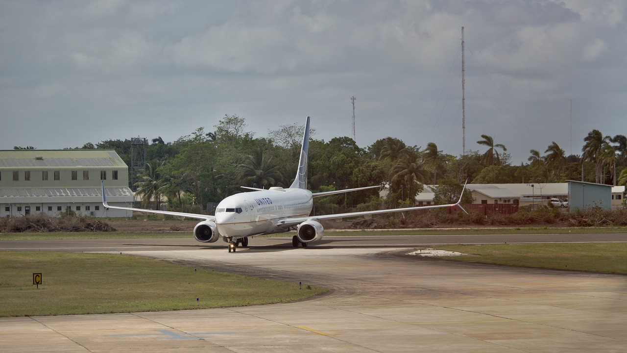 Boeing 737 on runway